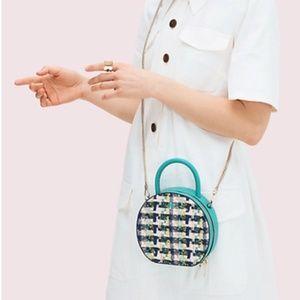 Kate Spade Andi Tweed Mini Chain Canteen Bag